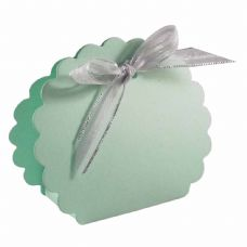 Light Green Scalloped Clam Designer Favour Boxes